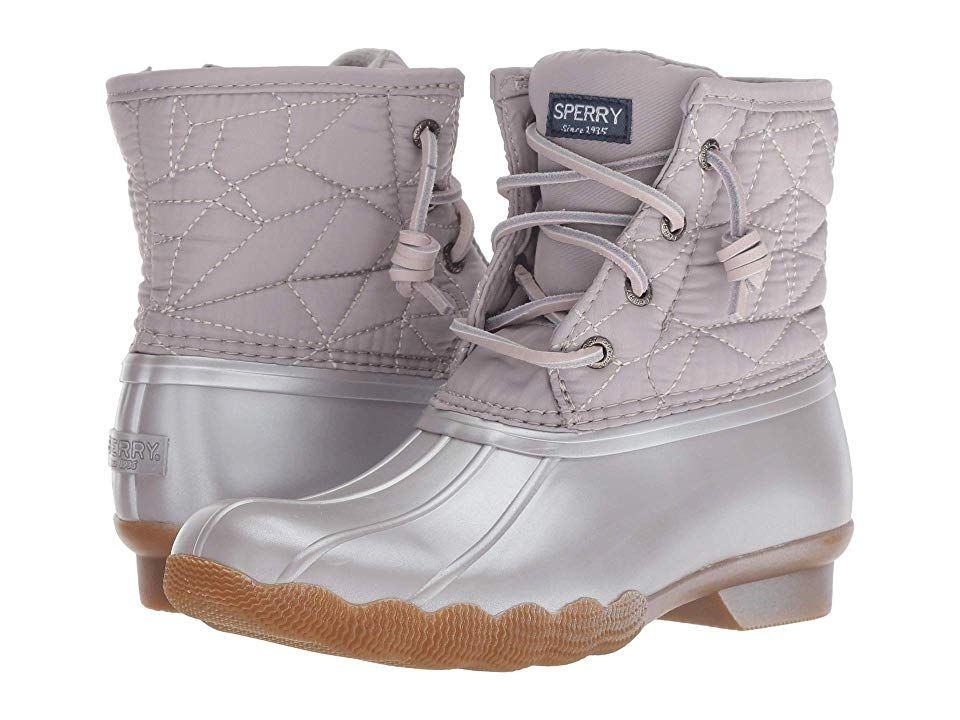 e2119dac15 Sperry Kids Saltwater Boot (Little Kid Big Kid) (Gull Grey Synthetic ...