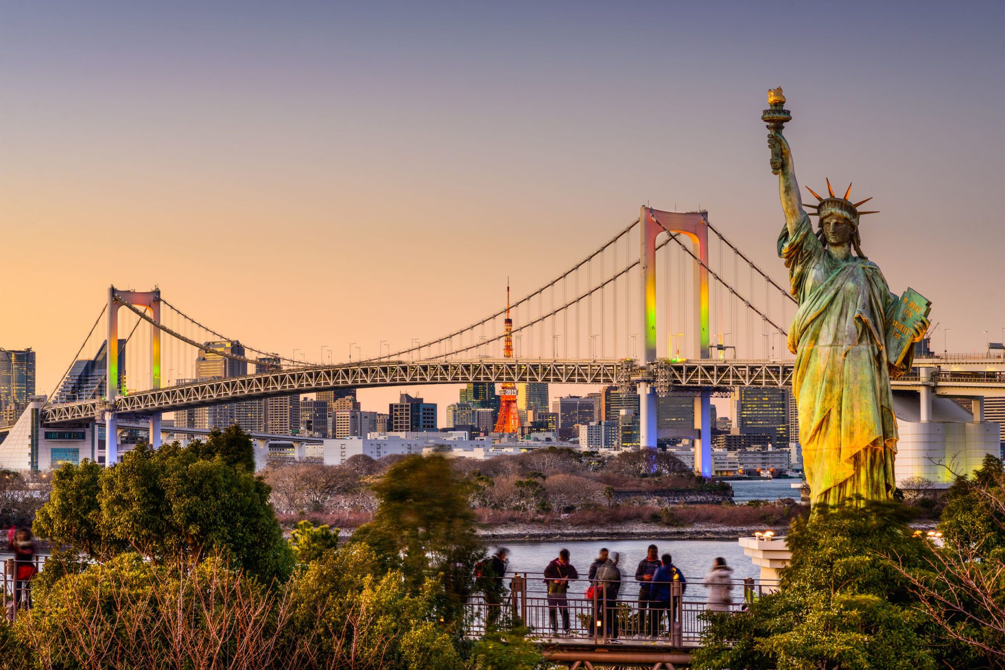 Image result for odaiba statue of liberty