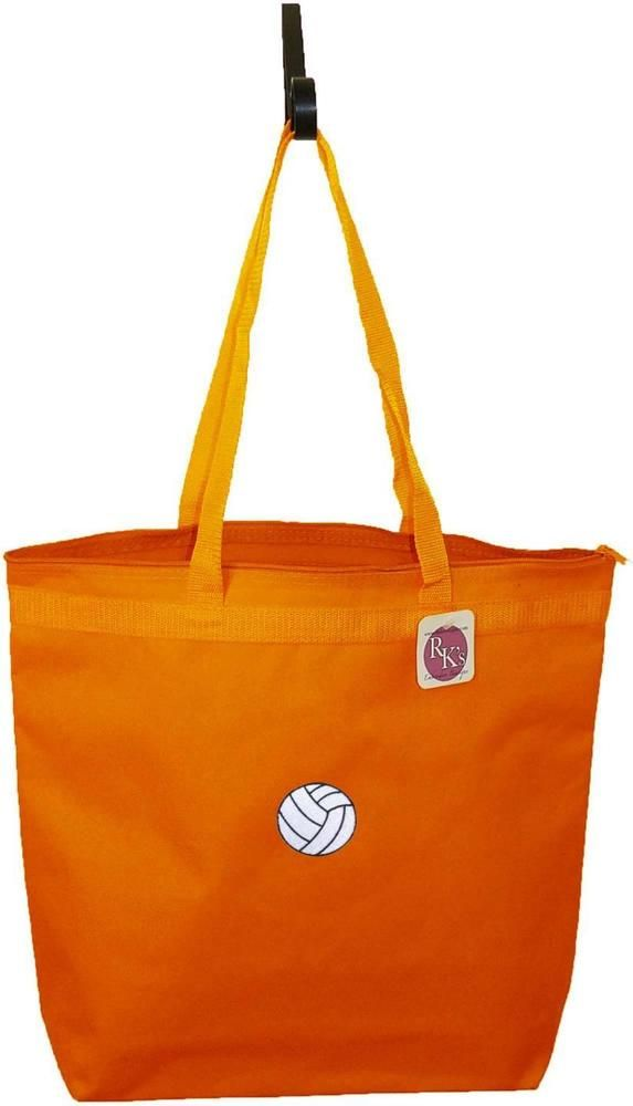 Volleyball Bag Large Orange Zipper Tote Sports Team Ball Embroidered Gift Nwt Bags