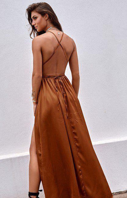 8d30cad14470 All Night Maxi Dress Rust | COOL COLORS | Orange prom dresses ...
