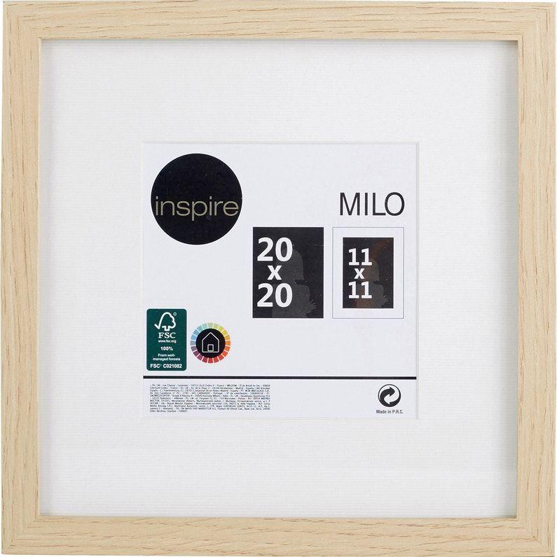 Cadre Milo 30 X 30 Cm Chêne Clair Inspire Chene Clair