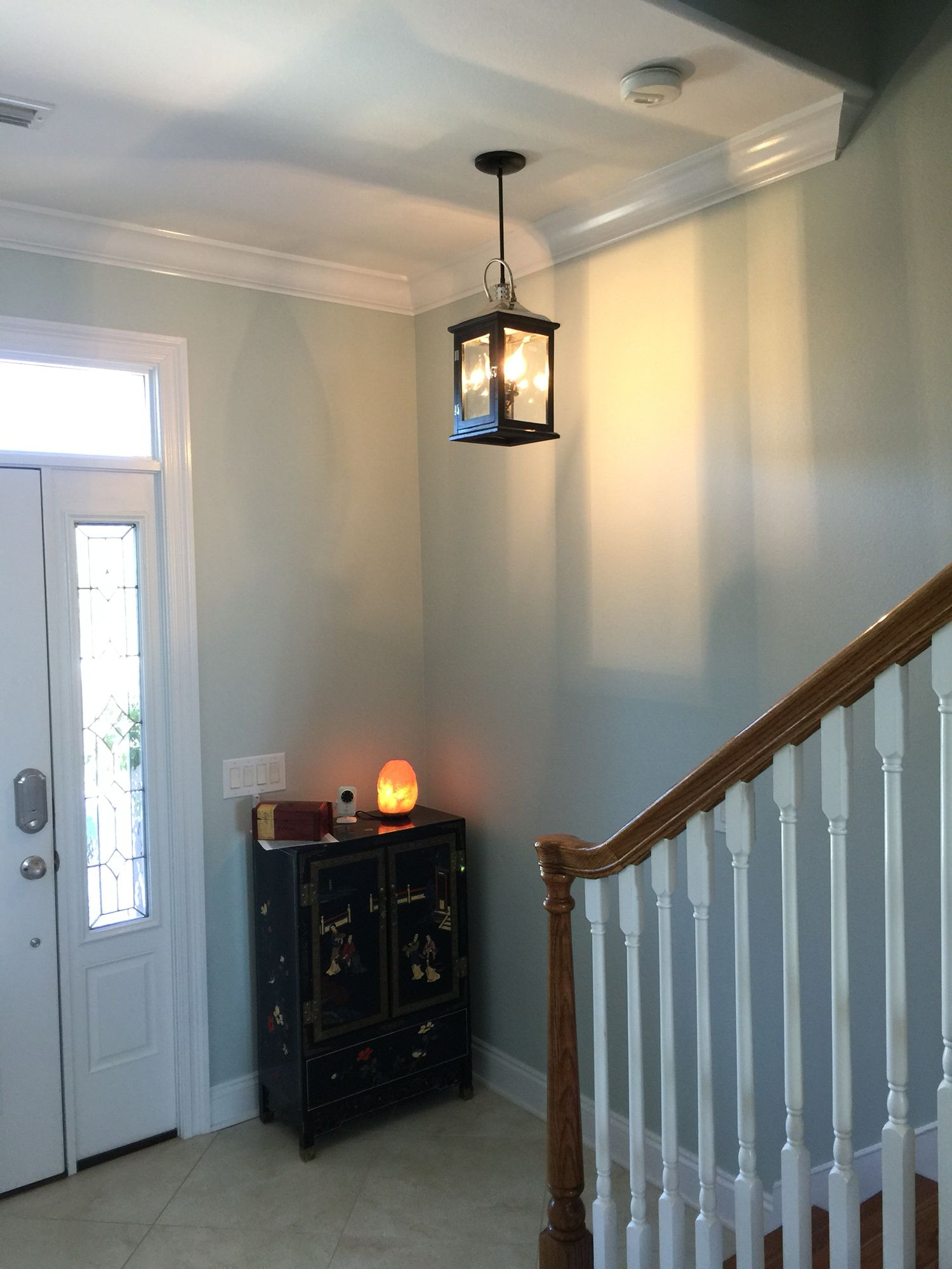 DIY CEILING LIGHT. Purchased lantern at Old Time Pottery and used ...