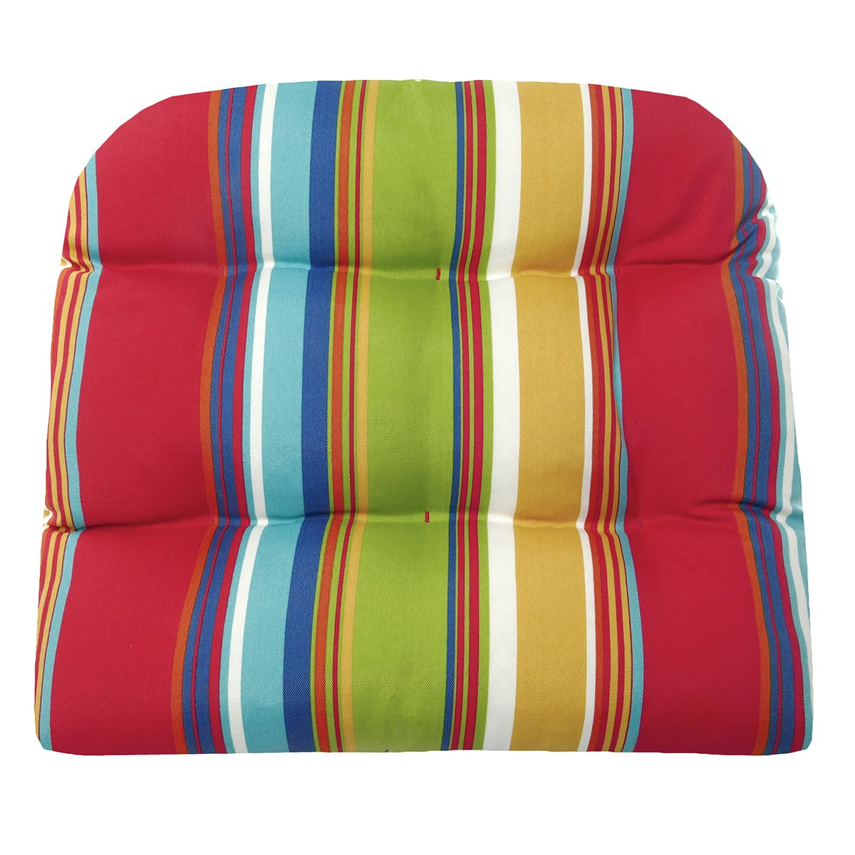 Westport cabana stripe red indoor outdoor dining chair pads