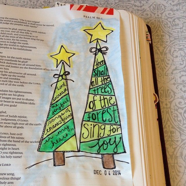 """Christmas Tree In The Bible Scripture: Advent Day 5 """"the Joyful Christmas Tree"""