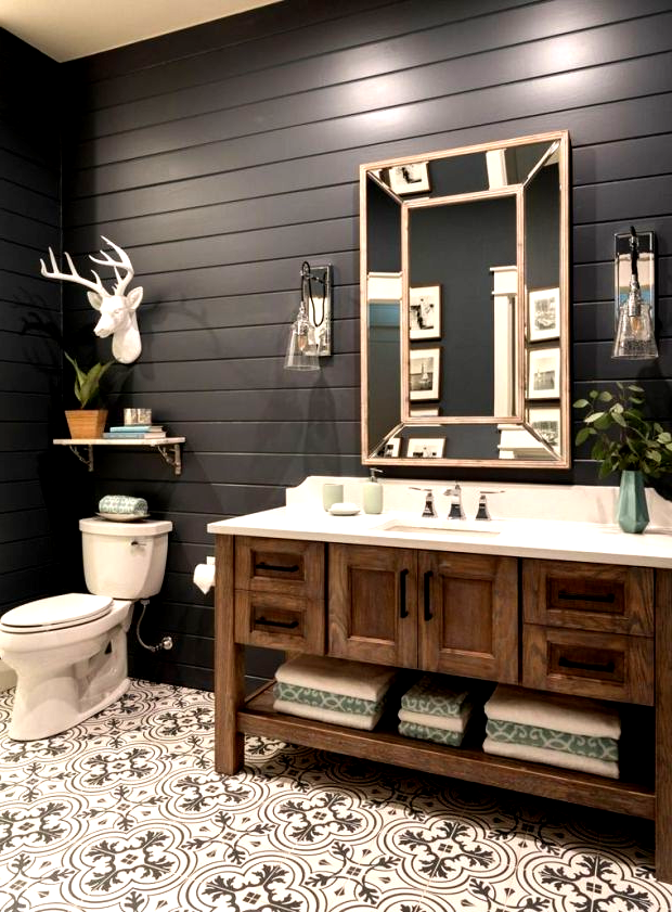 Bathroom Decor, Lake House Bathroom Images