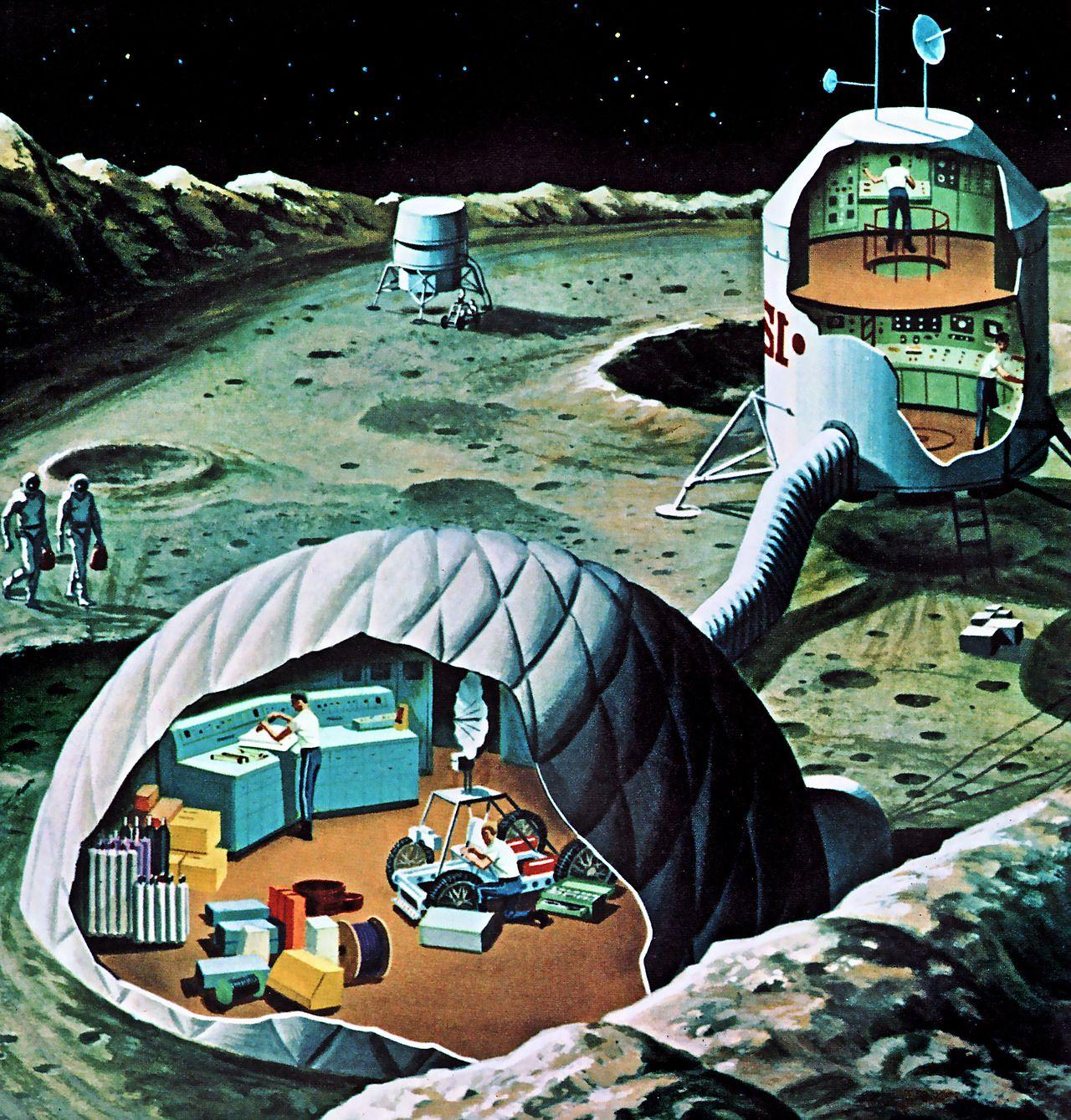 459 Best Retro Future Character Images On Pinterest: Moon Base, Retrofuturism