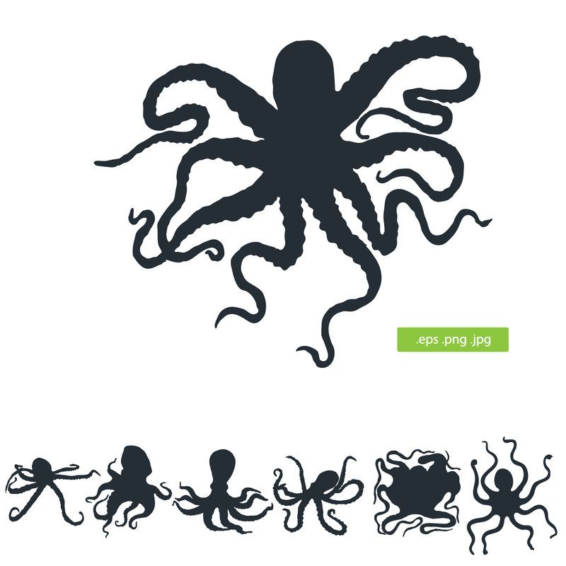 Silhouette octopus vector by silhouettes-clipart | Things ...