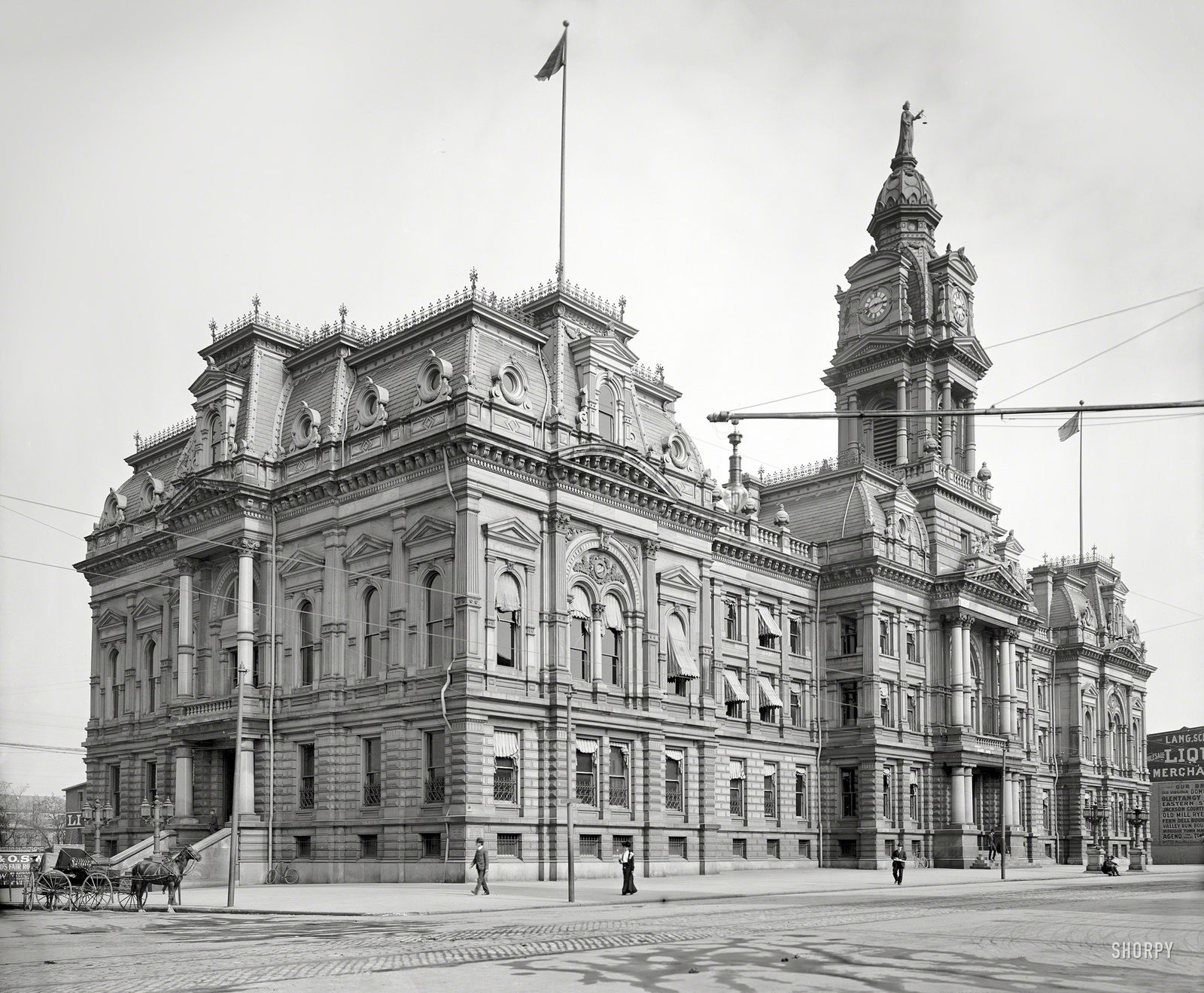 Суд округа Франклин, Колумбус. Построено в 1887 году ...