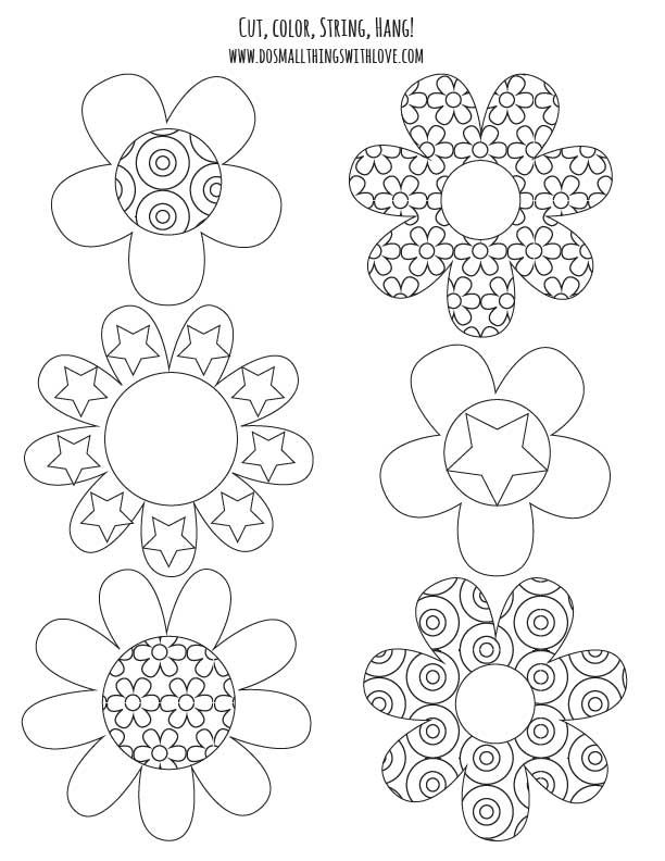 Colorable Spring Banner {free printable} and #MFB | Vorlagen zum ...