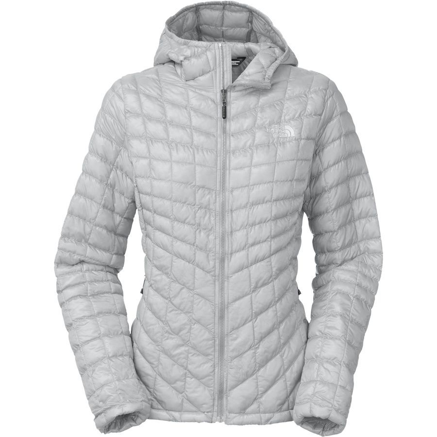 The North Face Thermoball Hooded Insulated Jacket Women S High Rise Grey Womens Outdoor Clothing Jackets North Face Jacket [ 900 x 900 Pixel ]