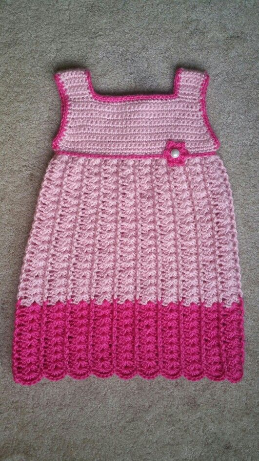 Crochet baby girl dress-  Pattern: crochet geek