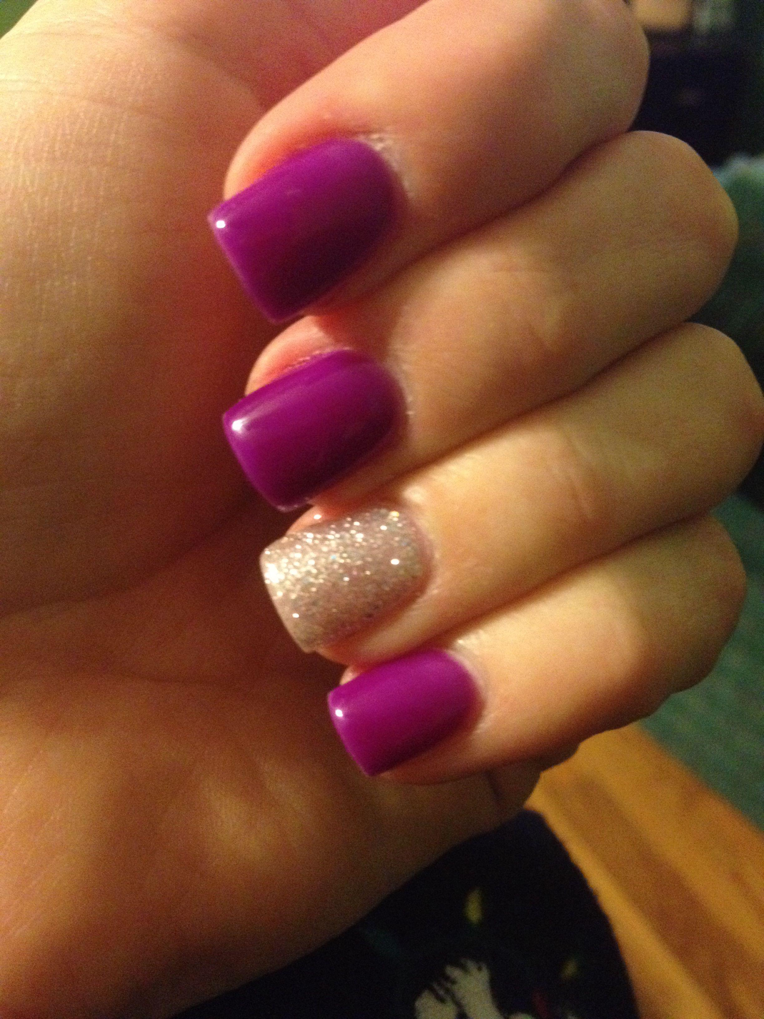 Purple and Gold | Nails | Pinterest | Glitter gel nails, Glitter gel ...