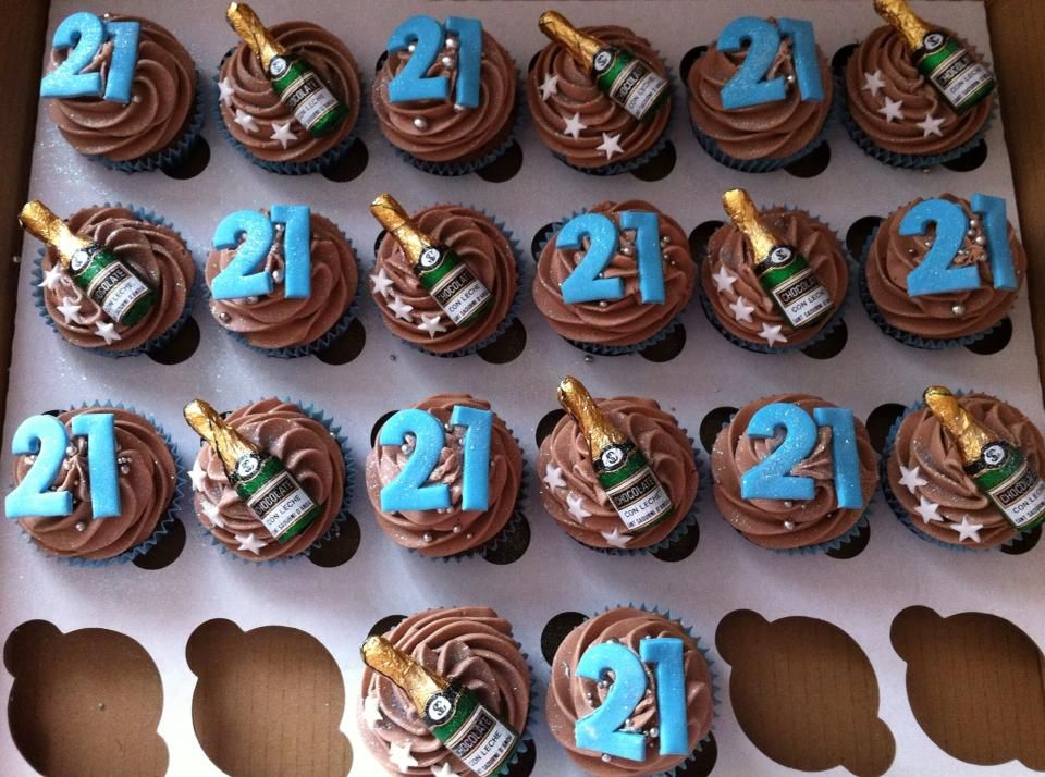 21st birthday cupcakes for guys Google Search Pinteres