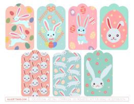 Easter bunny gift tags free printable gift tag templates easter bunny gift tags negle Image collections