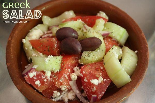 Greek Salad - YUMMY and healthy, too!