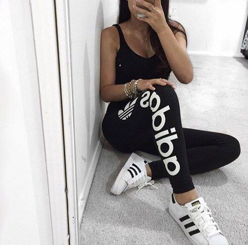 adidas, white, and outfit image