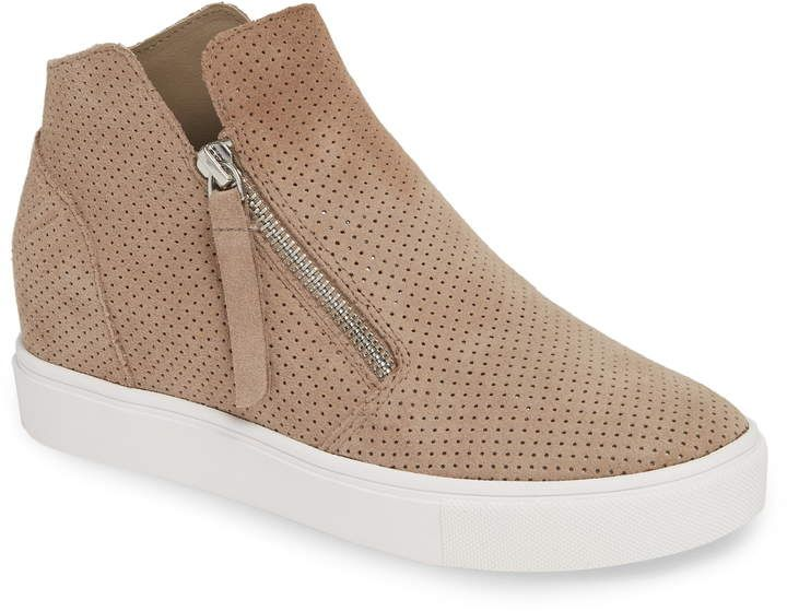 Steven by Steve Madden Suede Phylicia in Taupe Suede (Red