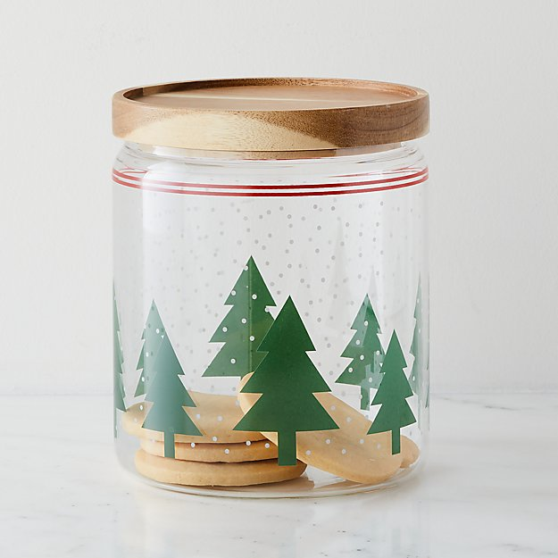 Winter Wonderland Glass Cookie Jar + Reviews Crate and
