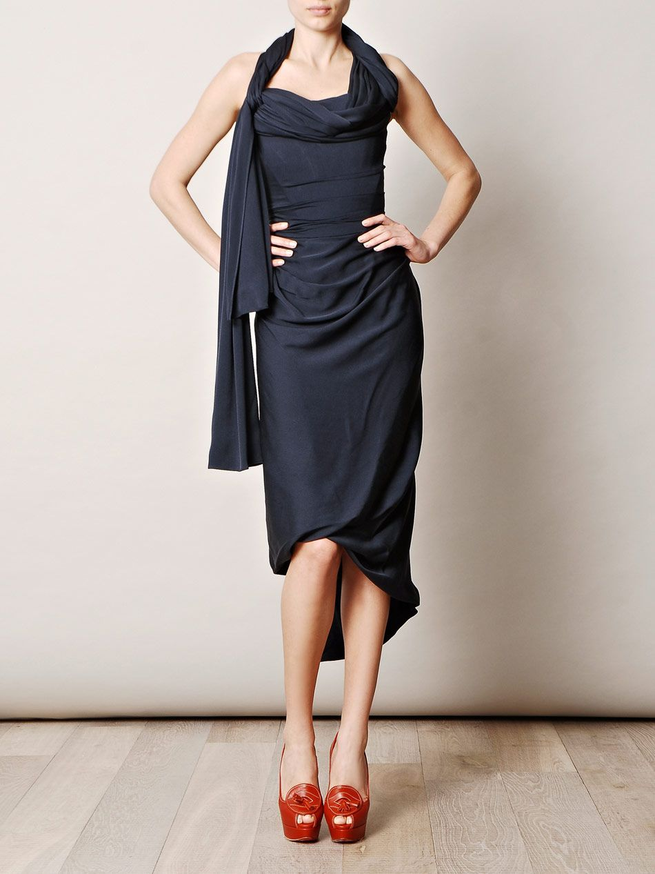 Dress for Women, Evening Cocktail Party On Sale, Anglomania, Blue, Viscose, 2017, 8 Vivienne Westwood
