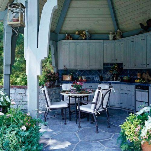 Praktische Küche im Garten gestalten esszimmer auflagen | Esszimmer ...
