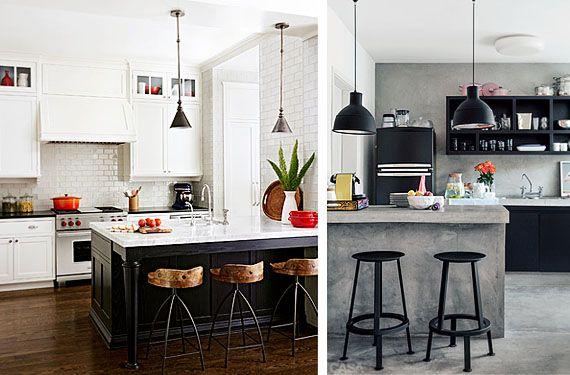 Cocinas en blanco y negro modernas y sofisticadas ideas for Encimera de cocina lacada en blanco negro