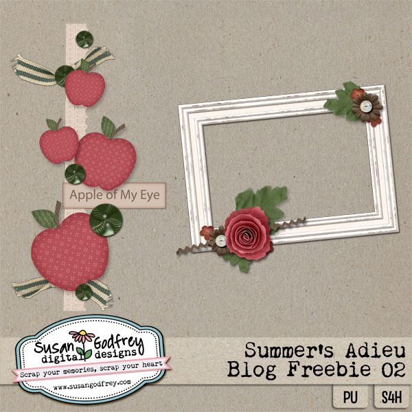 Susan Godfrey Digital Designs | Digital Scrapbooking Blog: Summer's Adieu Freebie #2