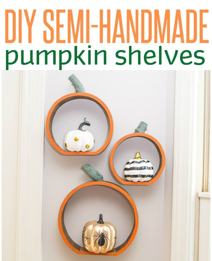 Pumpkin Shelves Shelves, Holidays and Autumn ideas - halloween decorations and crafts