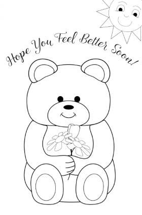 Printable Get Well Cards For Kids To Color Free Get Well Cards