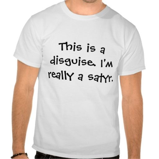 Satyr costume. tshirt