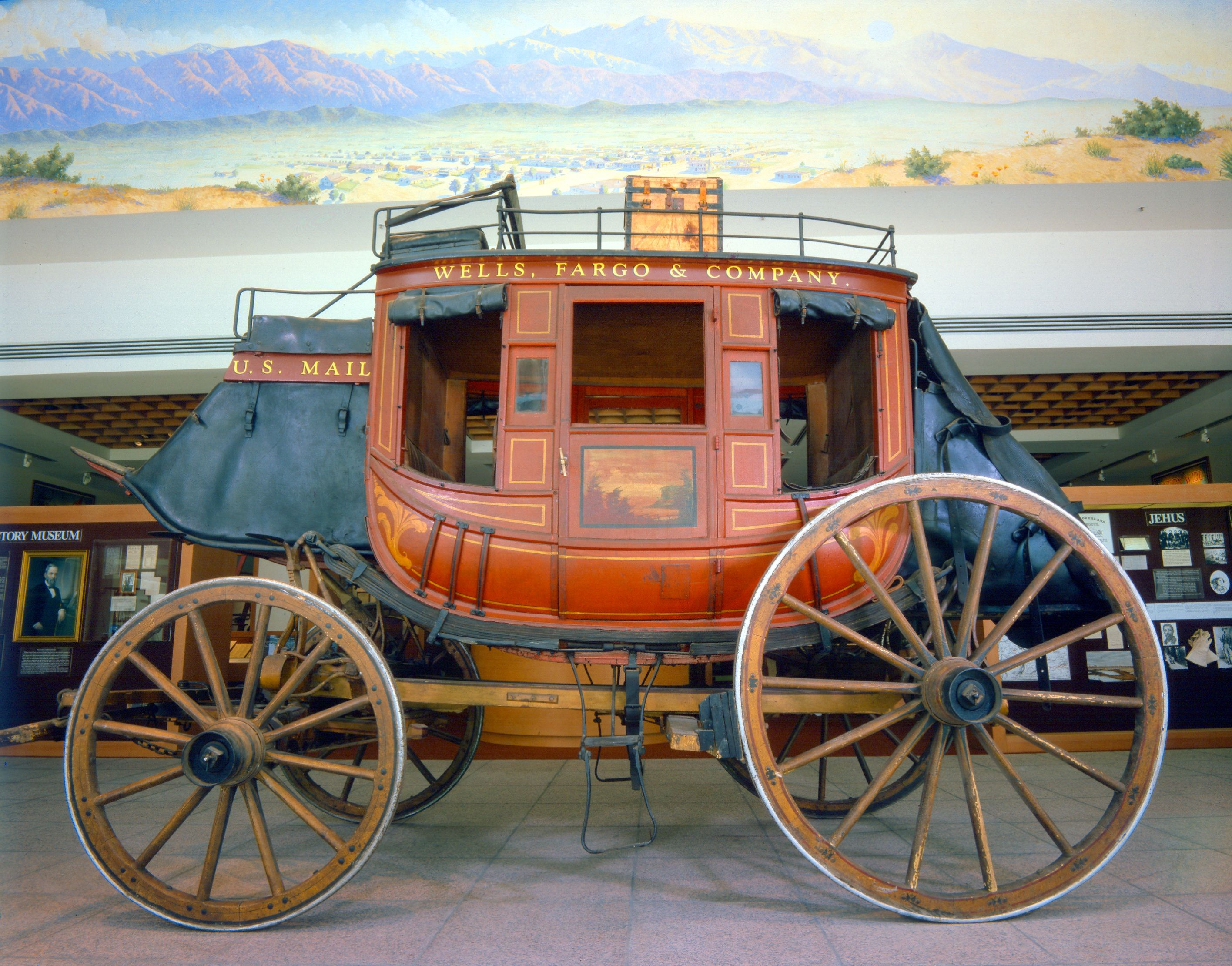 """""""Kentucky"""" Concord Stagecoach number 599 on display at the ..."""