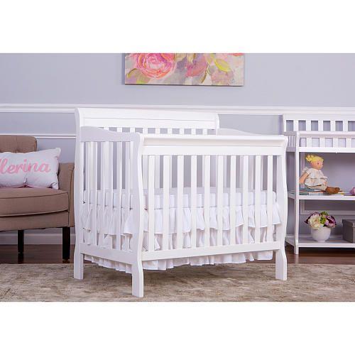 Dream On Me Aden 4 In 1 Convertible Mini Crib White Mini Crib Cribs Twin Size Bed Frame