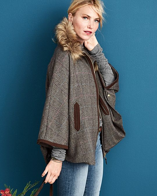 Joules Contessa Tweed Cape | Style Inspiration | Pinterest | Capes ...