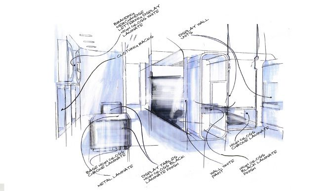Retail Design Sketches