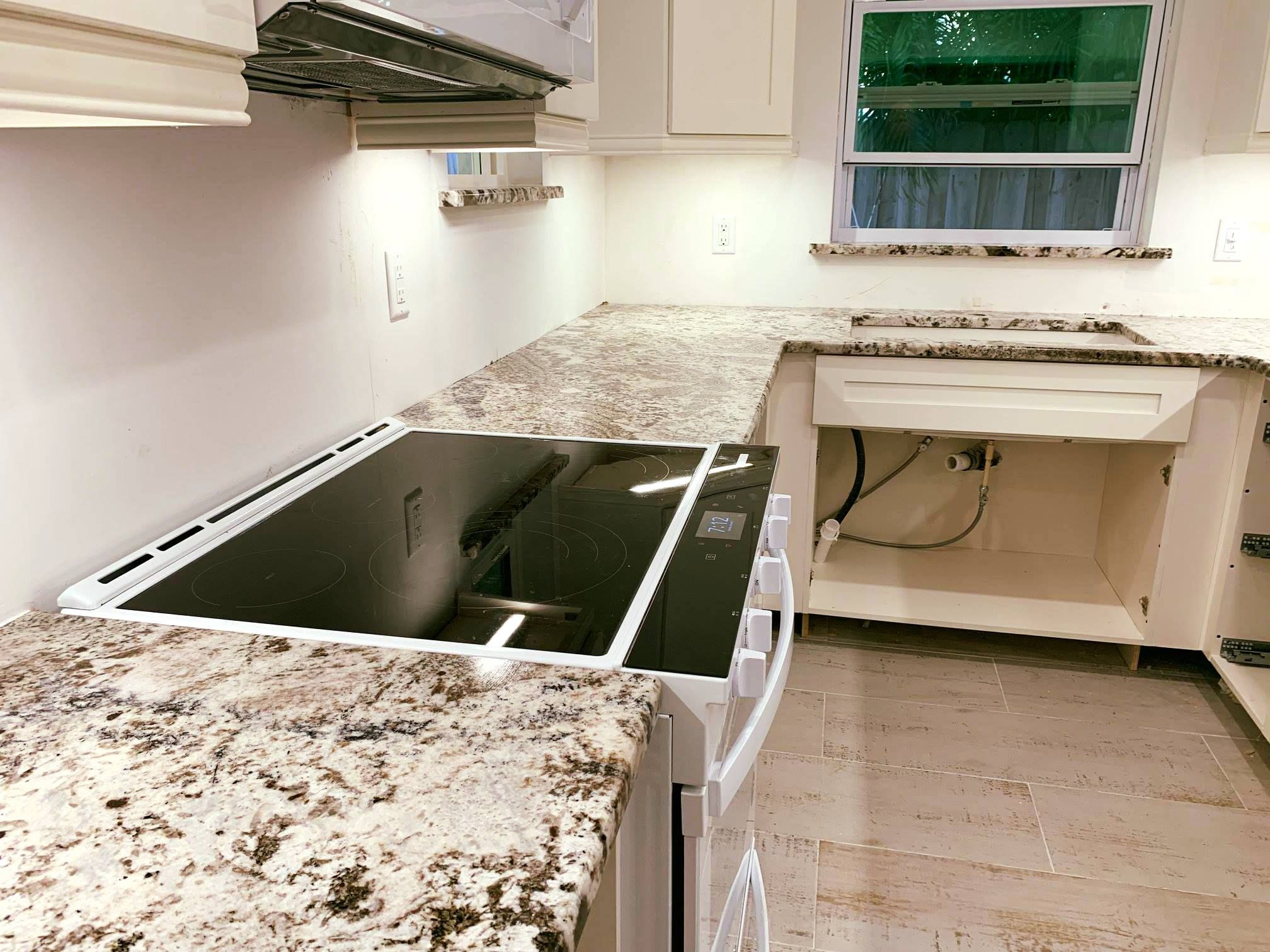 Amazing Custom Made Kitchen Countertops Made By Using Azul Nova