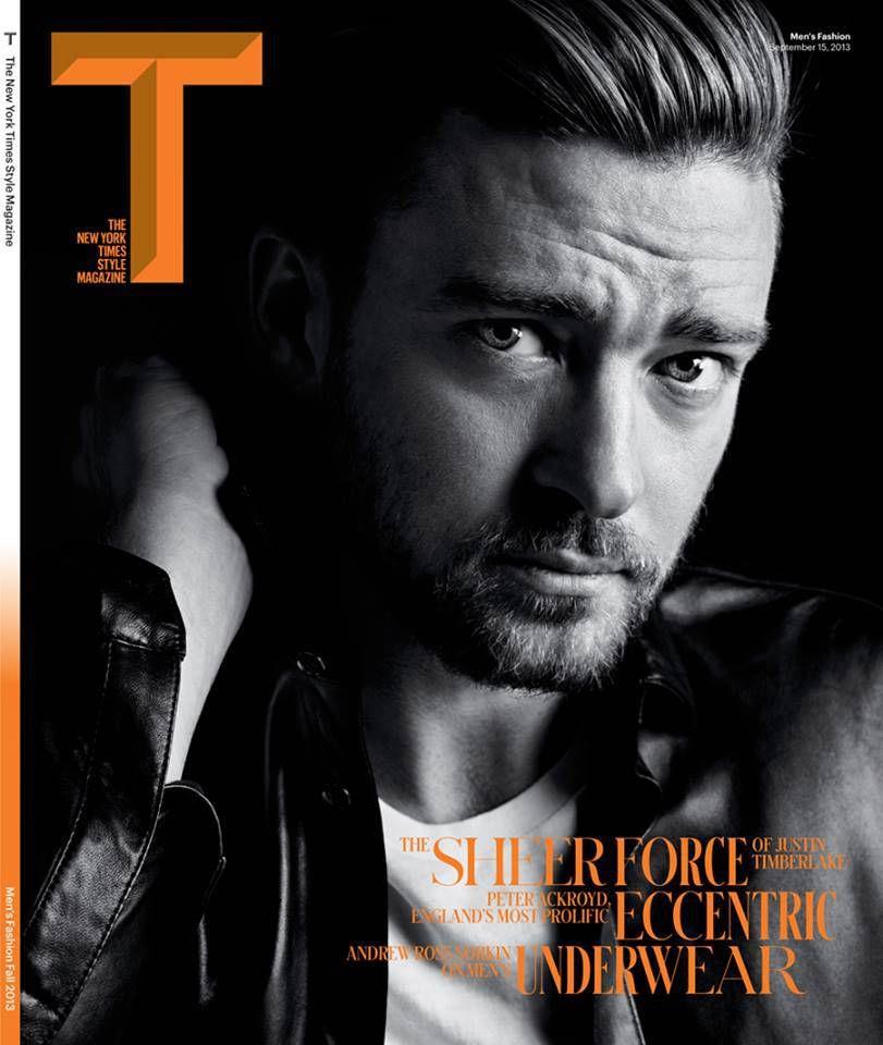 Justin Timberlake para T The New York Times Style Magazine Men's Fashion Fall 2013