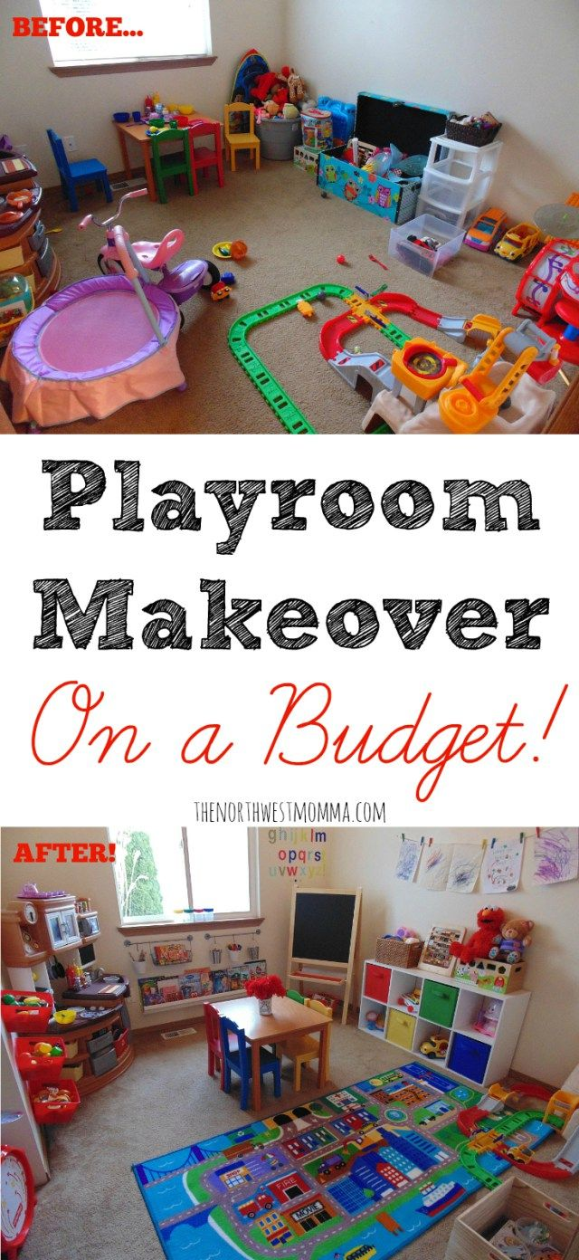 Playroom Makeover On A Budget For The Kiddos Pinterest