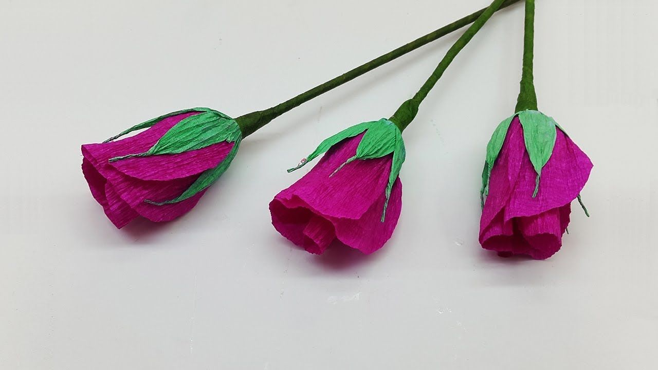 Diy Paper Roses How To Make Beautiful Paper Flowers Easy Watch