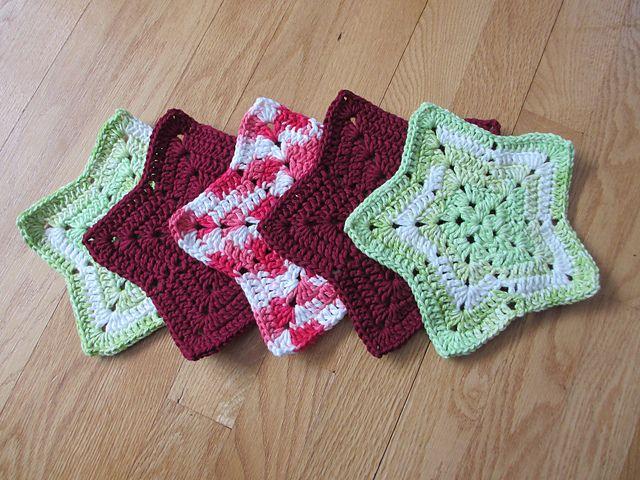 Ravelry Christmas Star Dishcloth Pattern By Maggie Weldon Crochet