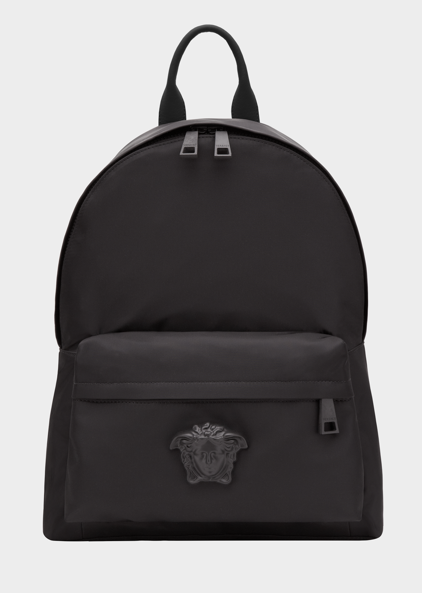 Medusa Head Nylon Backpack from Versace Men s Collection. Large size, top  handle nylon backpack, with zipped outer pocket and Medusa Head plaque. 95288523c3