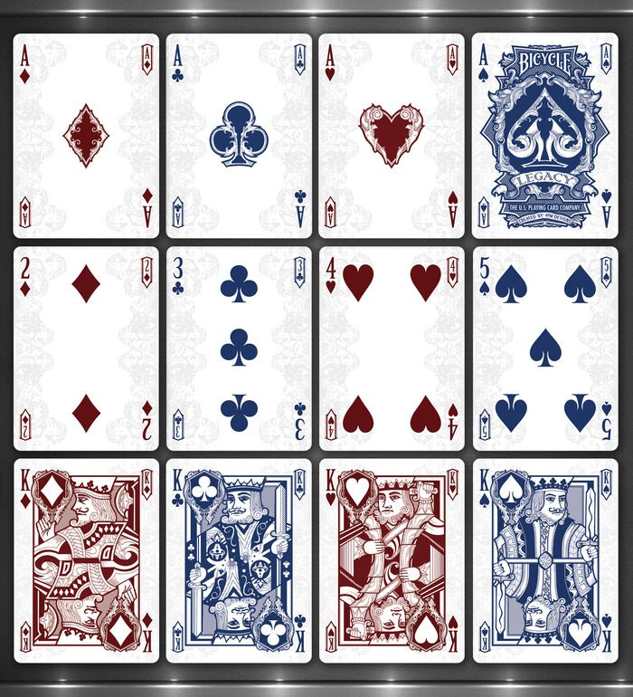 Playing Card Designs Legacy Playing Cards Taste Of The