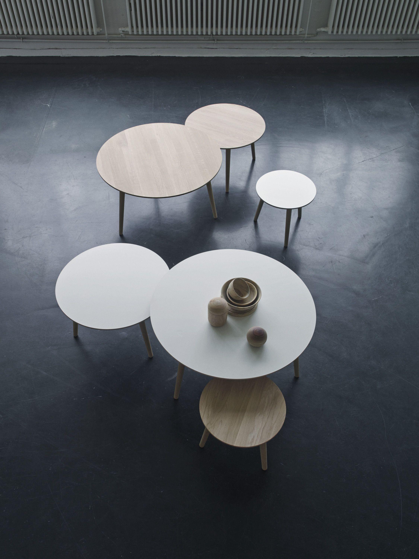 Haslev Mobelsnedkeri Coffee Table Trio Desktop 4164 Salsa 4174 Conifer Stue [ 3000 x 2250 Pixel ]