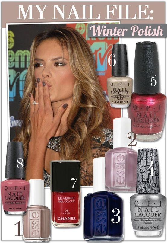 3 Beauty Trend Watch: Celebrity Nail Polish | Beautiful Style ...