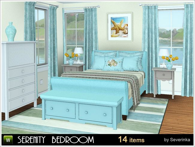 Serenity bedroom by Severinka - Free Sims 3 Furniture Downloads ...