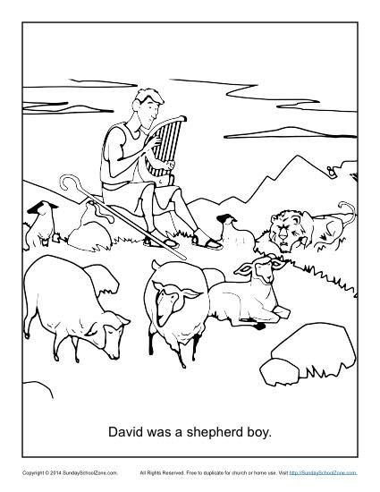 David Was A Shepherd Boy Coloring Page Sunday School Coloring