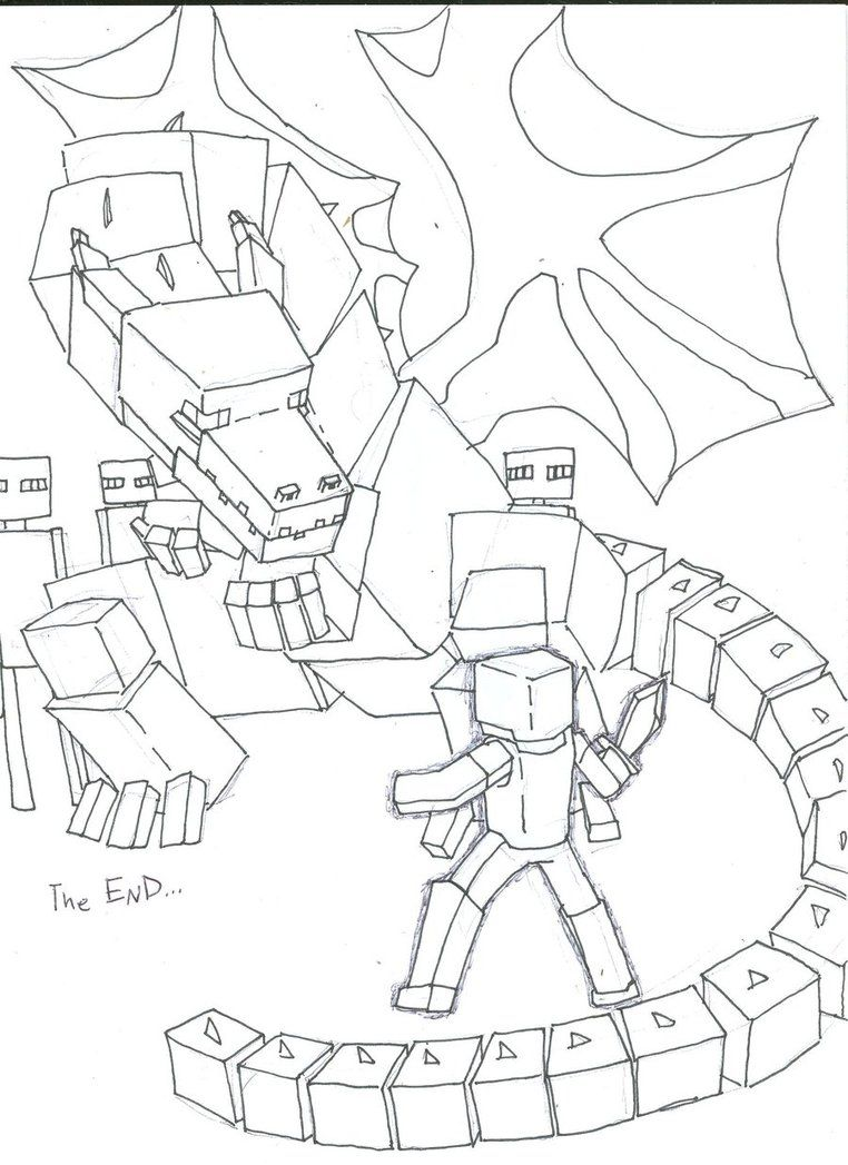 Ender Dragon Coloring Pages Google Search Minecraft Pinterest