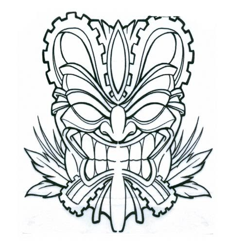 Pix For > Tiki Mask Coloring Pages | Tiki | Pinterest | Tiki totem ...
