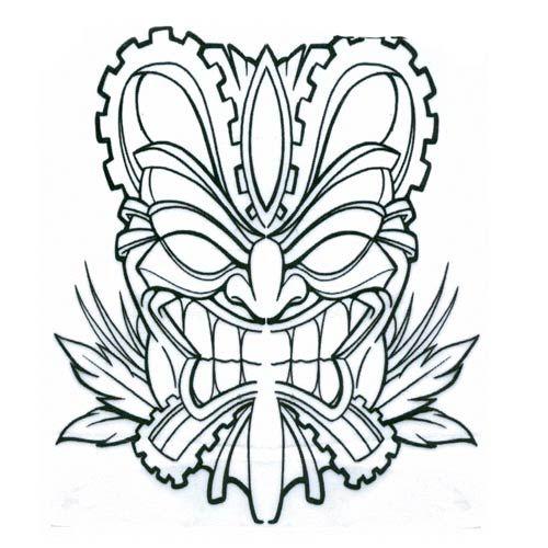 Pix For Tiki Mask Coloring Pages Tiki Tattoo Tiki Mask Tiki Head
