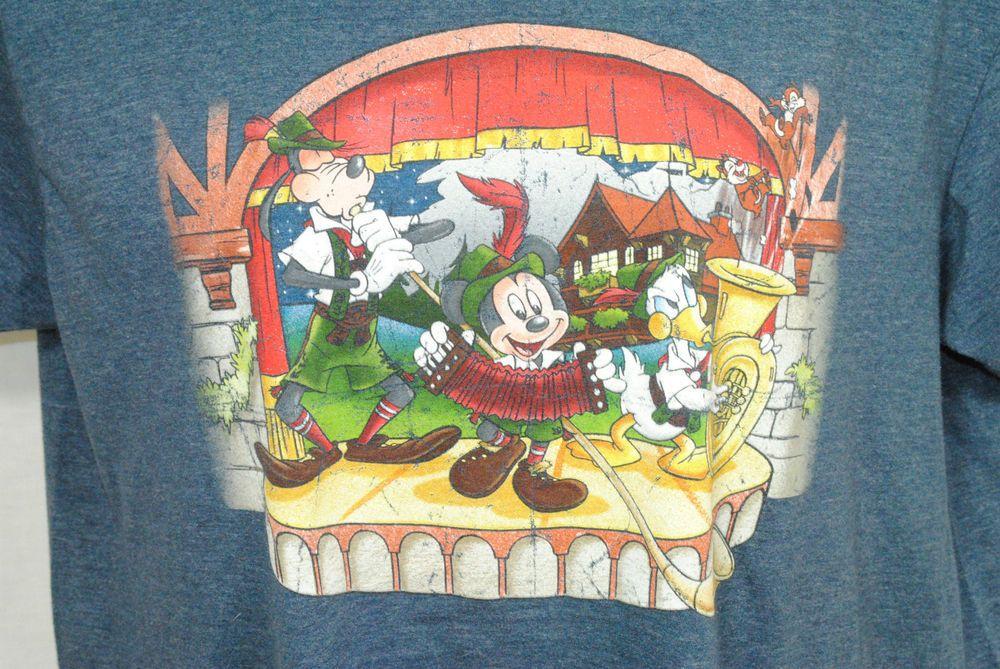 Disney Unisex Size Xl Tee Shirt Mickey Donald Goofy German Band