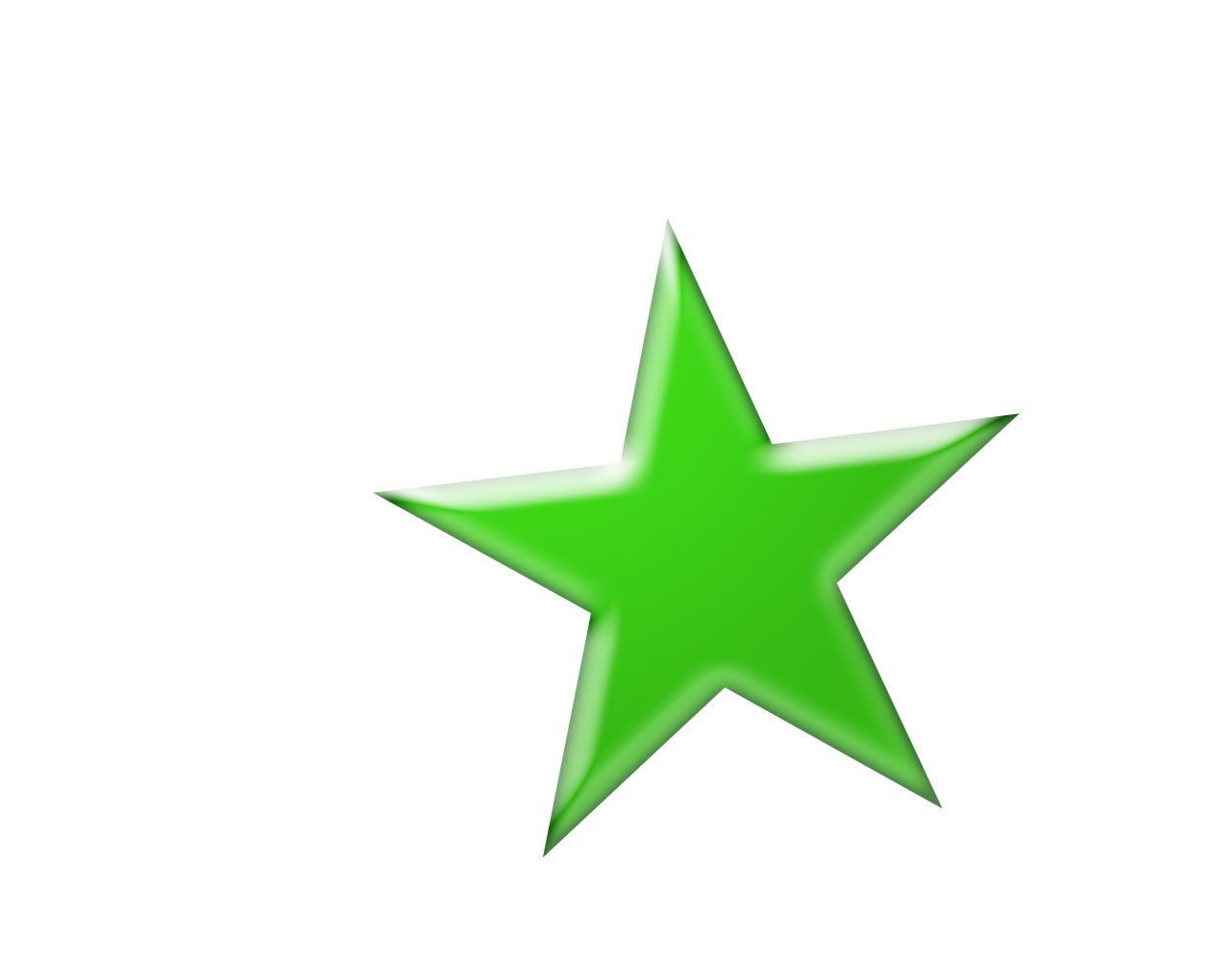 5 Point Star With Lime Green Glass Effects In Adobe