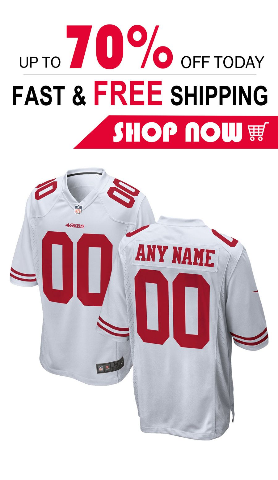 cheaper 109db 5bfb9 mens San Francisco 49ers custom football Game jersey in 2019 ...